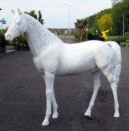 paard hoogglans wit